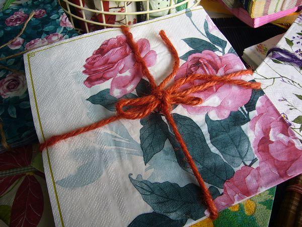 蝶古巴特植花餐巾紙CAA005~大幅玫瑰花