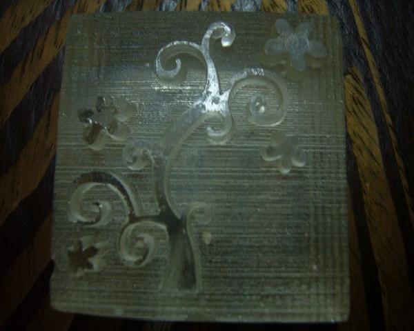 品 名 100-55透明壓克力皂章 情人樹