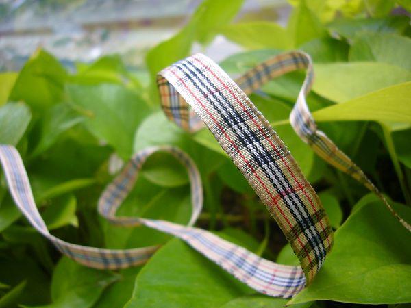 緞帶-13 普普格子帶(寬1cm)*5碼
