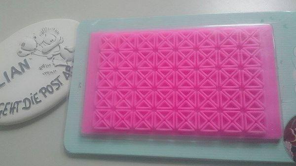 切花模-幾何圖-8   塑料壓花*1