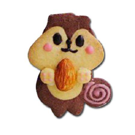 森林系餅乾模-8  浣熊抱抱-2餅乾模*1