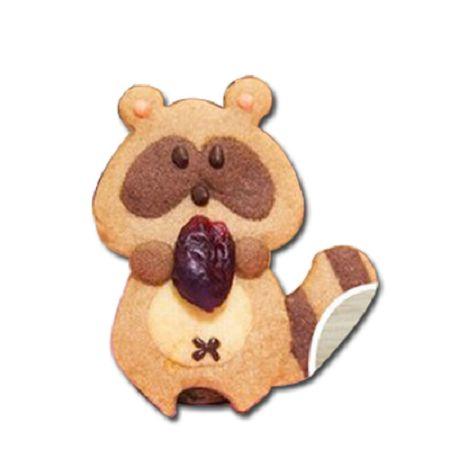 森林系餅乾模-7  浣熊抱抱餅乾模*1