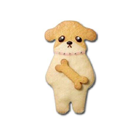 森林系餅乾模-12   骨頭小狗餅乾模*1