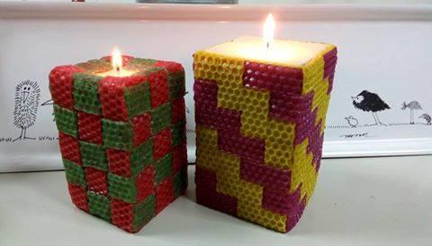 蜂蠟片編織蠟燭-1 *1編織蠟燭