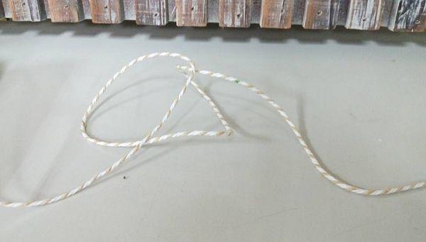 未過蠟棉線-10 24股咖白相間(5公尺)*1