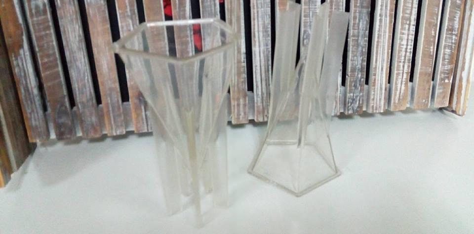 錐型蠟燭模具-3 5邊型錐型蠟燭模具*1