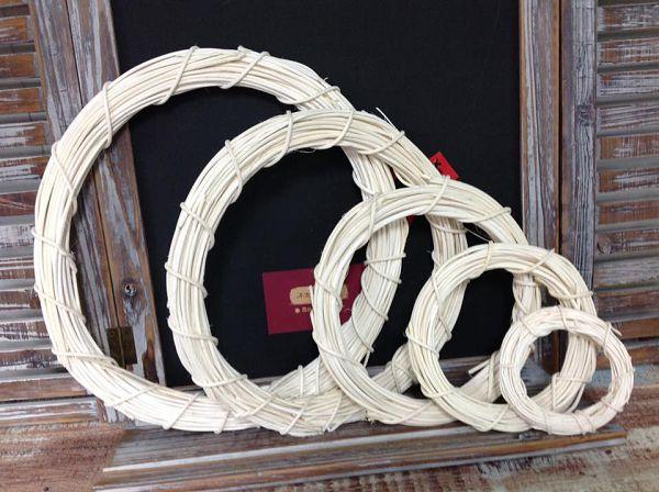 藤圈類-15 白色藤圈(外直徑30cm)*1