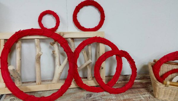 藤圈類-25 紅色藤圈(外直徑30cm)*1