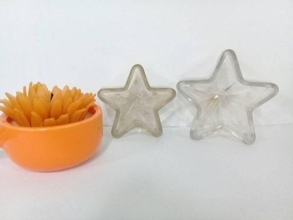 手作蠟燭浮水蠟燭模-5  五角星蠟燭模(5*2cm)小*1