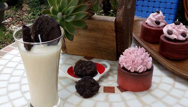 手工蠟燭選修課-10 牛奶餅乾蠟燭*1