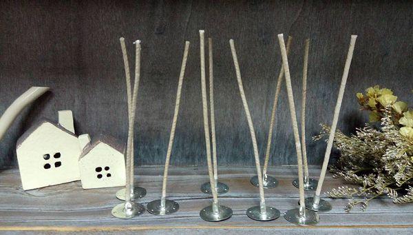 進口蠟燭棉芯-2   含底座蠟燭棉芯12cm(10支)*1