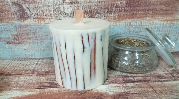 乾花乾果蠟燭-1 肉桂枝大豆蠟燭-1